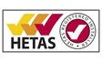 The Kingsley Group is a member of HETAS, the official government body to approve biomass and solid fuel domestic appliancex,  logo