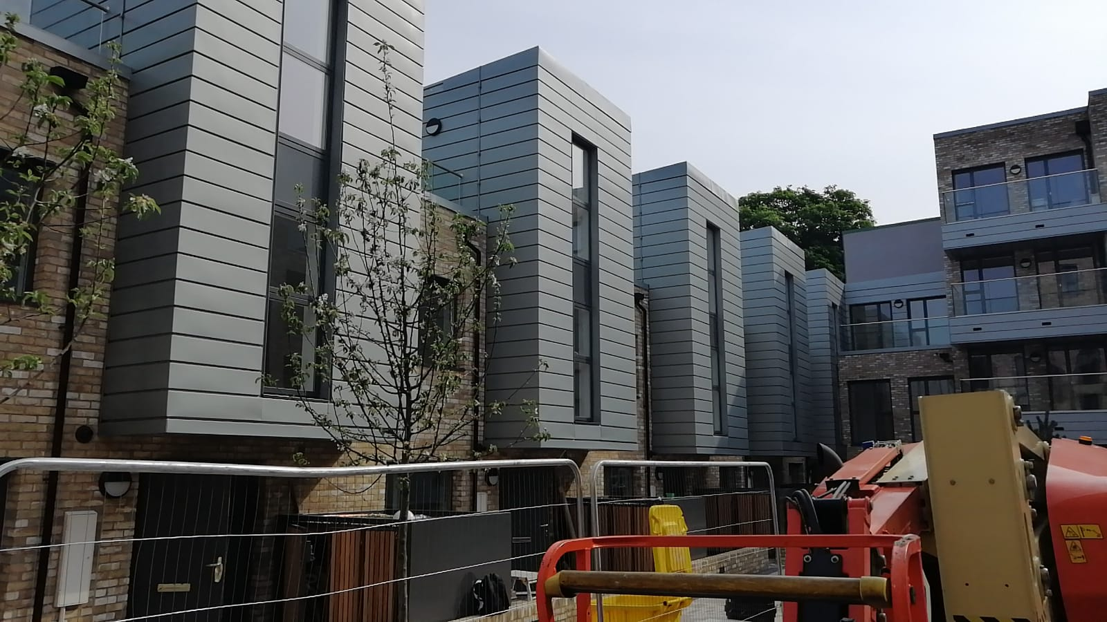 Zinc cladding on some residential properties