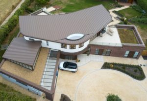 Zinc roofing residential